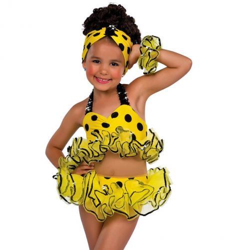 Bikini dot poka yellow